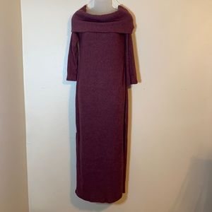 Love In gorgeous mauve sweater dress. Maxi.